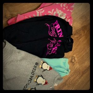 Girls sweatshirt lot size 6